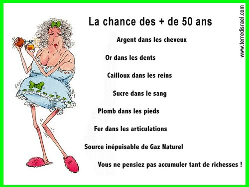 humour humour la chance des plus de 50 ans anniversaires humor. Black Bedroom Furniture Sets. Home Design Ideas