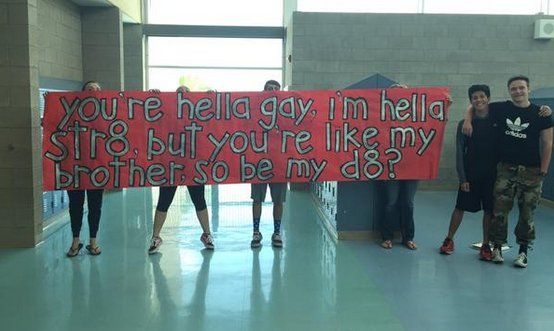 Straight High-Schooler Invites Gay Best Friend To The Prom - this is what best friends are for. Seriously, it's no different than going to prom with friends, just has a little more style to it.