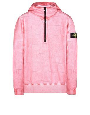 611J3 SI HOUSE CHECK WITH DUST COLOUR TREATMENT Толстовка Stone Island Для Мужчин - Official Online Store