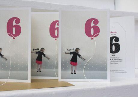 invitation 6ans susie by Fifi Mandirac