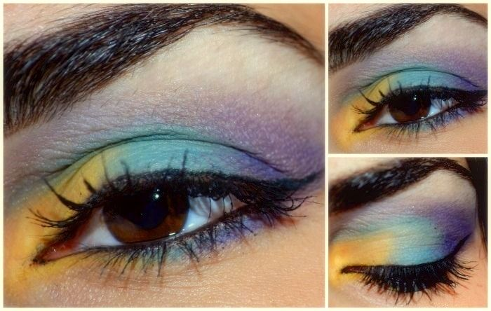 Kryolan Eyeshadow Palette - Banana & TV Blue 88 Eyesahdow Palette - Purple Catrice Black Gel Eyeliner Illamasqua Mascara  Make Up Designory Black Eye Pencil Anastasia Eyebrow Kit