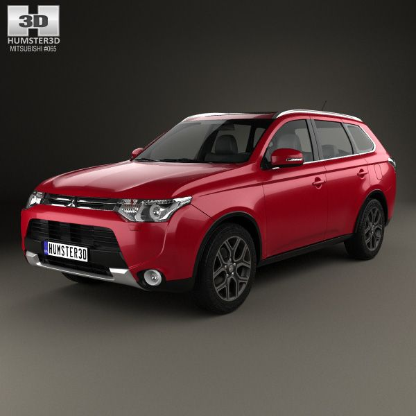 Mitsubishi Outlander 2014 3d model from humster3d.com. Price: $75