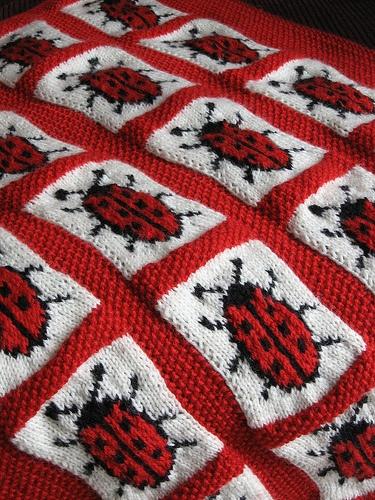 Ladybird Blanket By Zo 235 Mellor Knitting Crochet