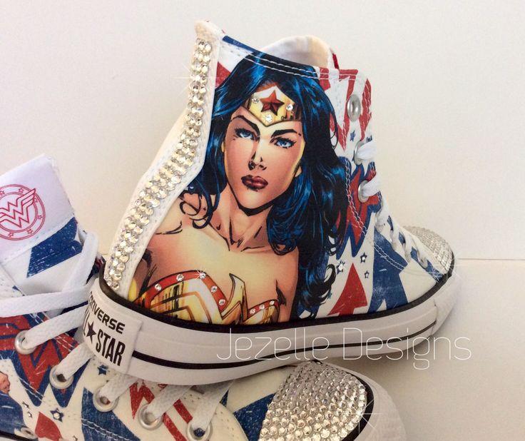 Wonder Woman Converse w/ Swarovski Crystals