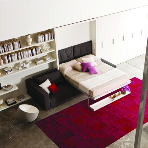 8 best space saving queen beds images on pinterest 3 4 beds queen beds and space saving - Beds attached to the wall ...
