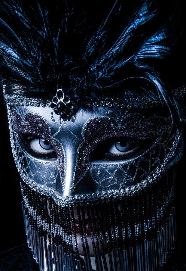 midnight blue mask VENETIAN.Italy