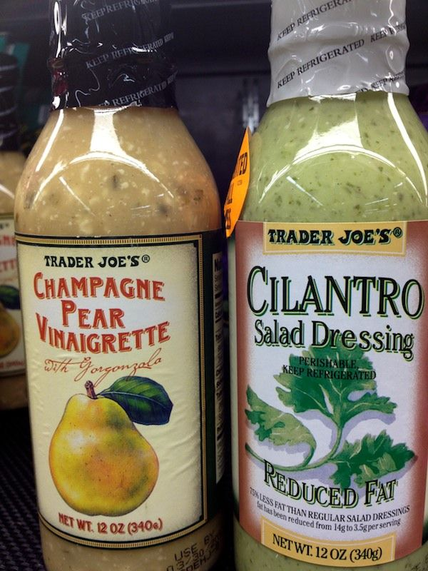 Best salad dressing from Trader Joes Champagne Pear Vinaigrette & Cilantro Salad Dressing