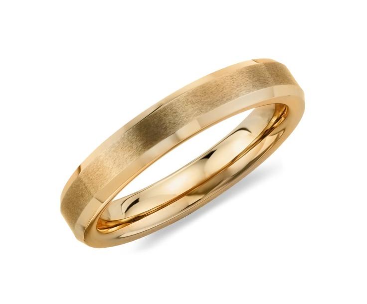 Brushed Wedding Ring in 14K Yellow Gold #BlueNile