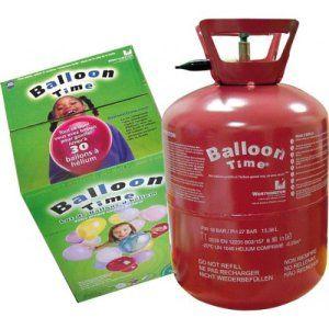 P'TIT CLOWN 12439 Bouteille d'Hélium Jetable – 0,25 m3 – 30 Ballons – Multicolore