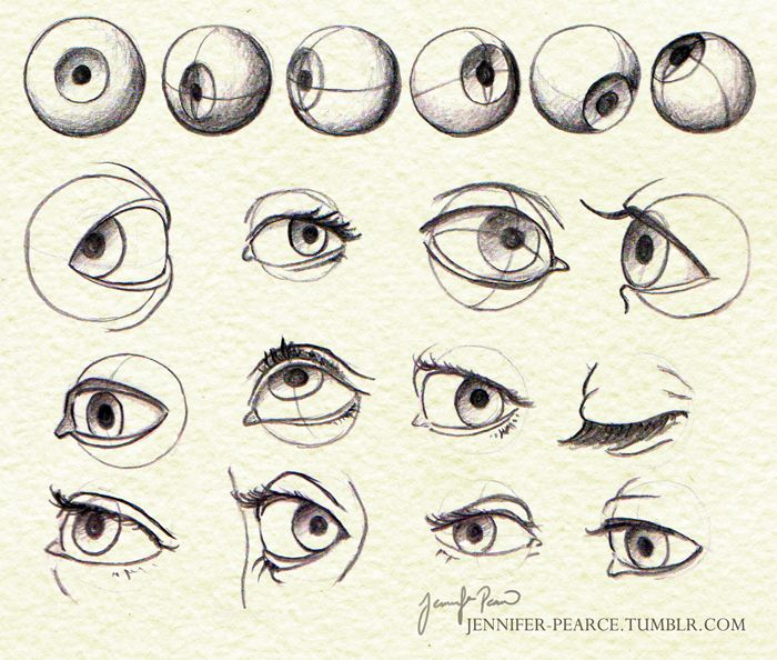 how to draw human eye structure