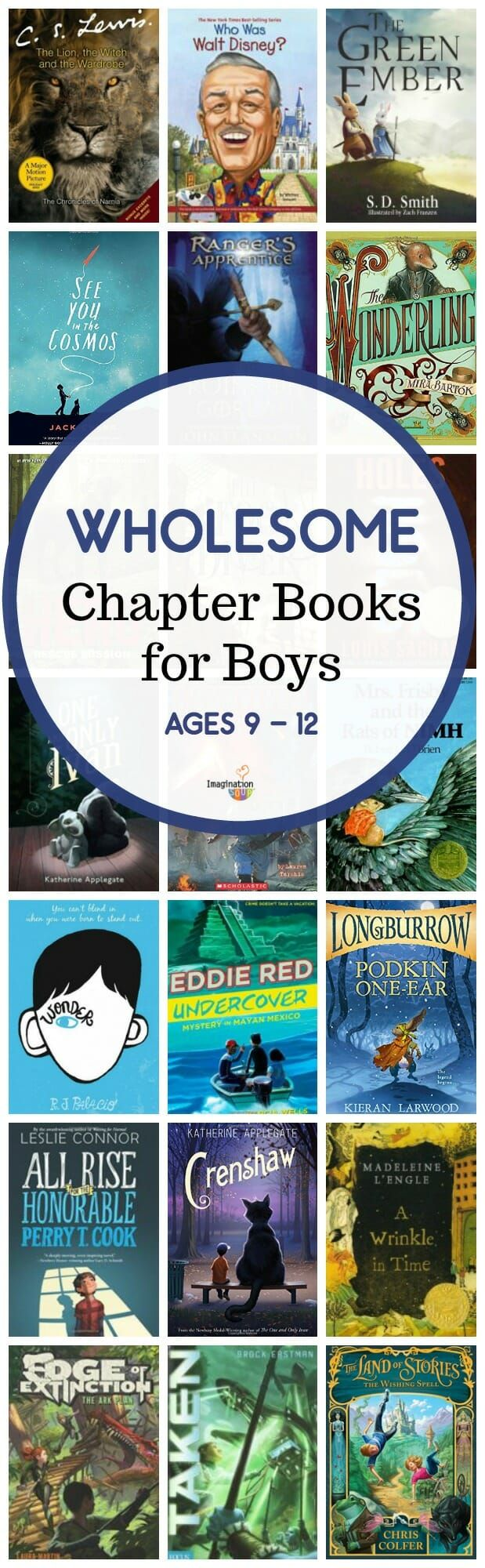 Wholesome Middle Grade Chapter Books for Boys #kids #childrensbooks #books