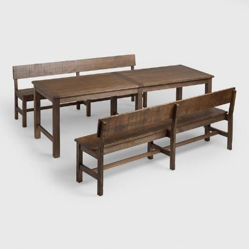 Charming Distressed Brown Gulianna Extra Long Dining Collection