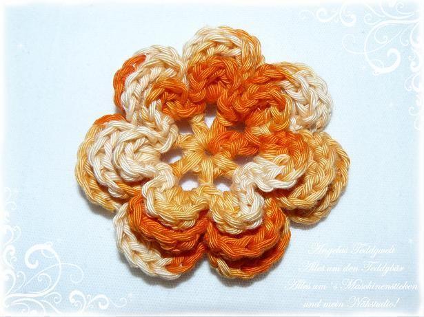 3-D+Häkelblume++♥+orange+Blume++-3-+♥+von+Angelas+Teddywelt++auf+DaWanda.com