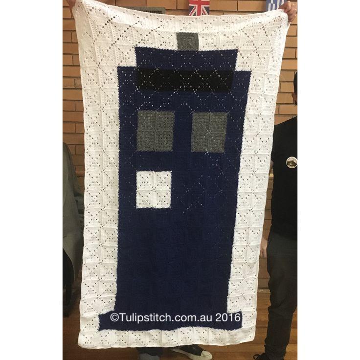 Basic Tardis Blanket. 198 squares