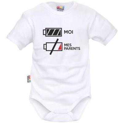 Body bébé rigolo : je suis plein d'ENERGIE - Bodies bébé originaux/Drôles - SiMedio
