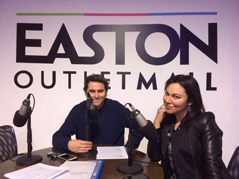 SEBASTIAN JIMENEZ  ALEJANDRA ESPINOSA RADIO ROMANTICA EASTON OUTLET MALL