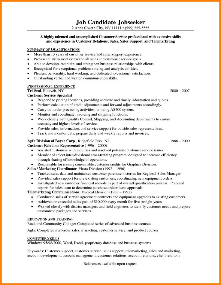 telemarketing resume job description
