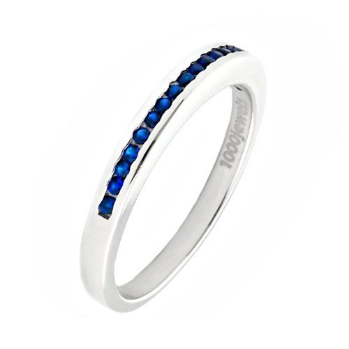 Thin Blue Line Band Police Fire Wife Pinterest Blue Sapphire Band Rings And Eternity
