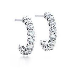 Tiffany Diamond Hoop Earrings