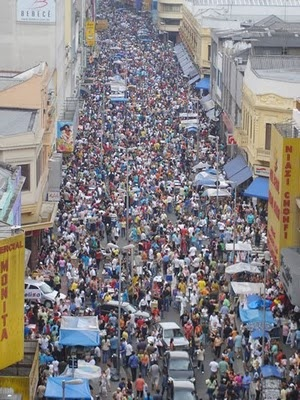 Rua 25 de Março. Sao Paulo, Brasil.          I went there today. :) This is just so fun and amazing. Shopping at its best.