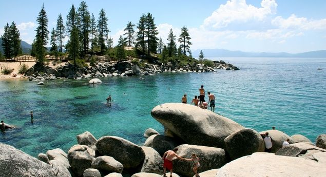 Swimming Cove at Lake Tahoe (From: Northern California)