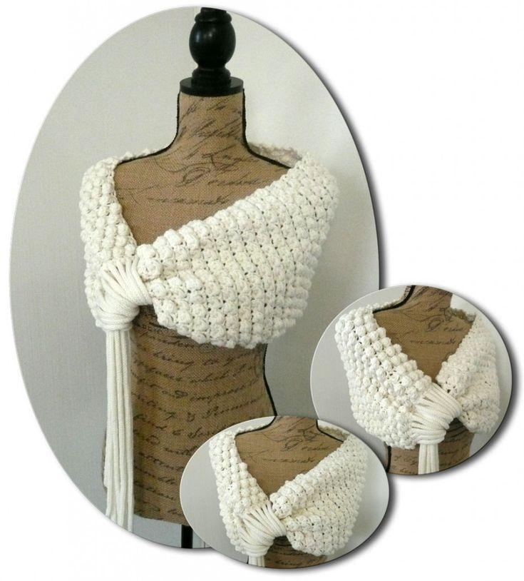 Crochetez ce couvre épaule avec la laine WOOLLY DMC et entourez vous de douceur et de chaleur
