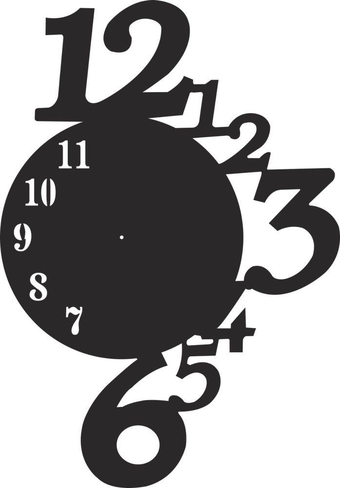 Clock design CDR AI DXF File CNC Laser Plasma & Water Jet
