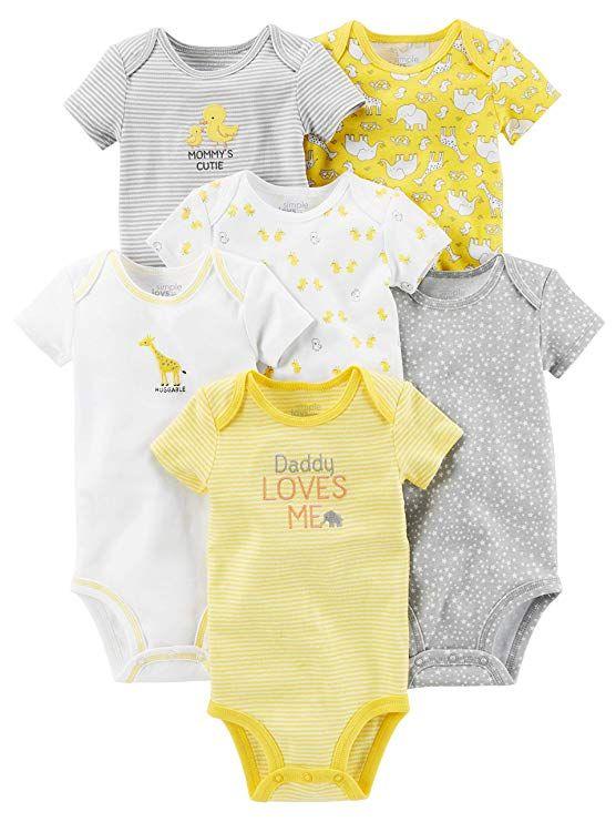 a4416782b Simple Joys by Carter s Baby 6-Pack Neutral Short-Sleeve Bodysuit ...