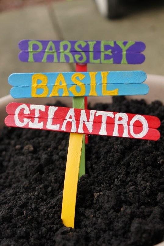 Garden Labels, good for scrap wood