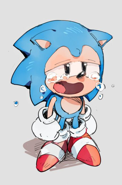 Classic Sonic crying. Poor Soniku T︵T