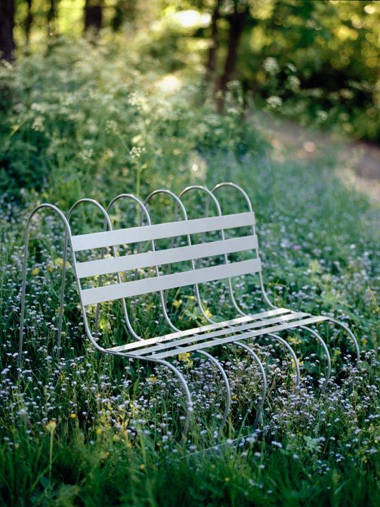 Is it a chair... or a trellis? These simple yet multifunctional pieces from designer Eva Schildt are lightweight enough for even the smallest of gardens.