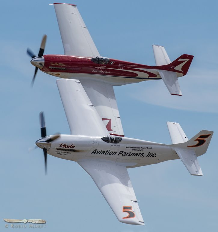 Voodoo & Strega wing to wing at Planes of Fame airshow 2018