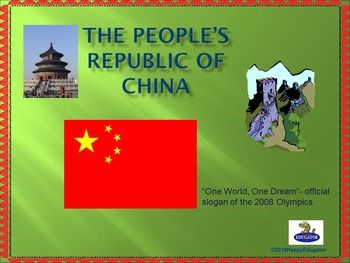 China - All About China PowerPoint Presentation. Studying China?  62 slide PowerPoint on China. This presentation is packed with information on China: the land, the people, the history and the culture. Complete with animation, interesting facts about China, and lots of photographs of different regions of China, this presentation is a good way to supplement a unit of study with an overview of Chinese population, politics, manufacturing, products, agriculture, wildlife, religion, and…