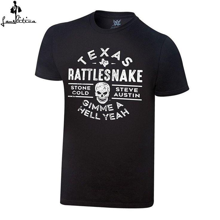 cheap men t-shirt Funny T Shirt Stone Cold Steve Austin Texas Rattlesnake Vintage T-Shirt