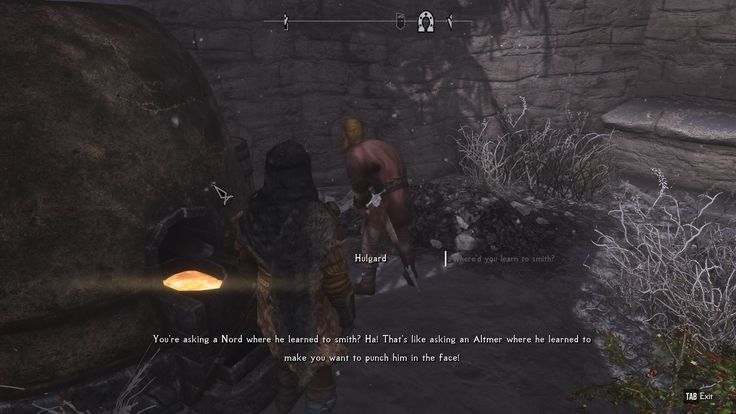 Hey Nord where did you learn to smith? #games #Skyrim #elderscrolls #BE3 #gaming #videogames #Concours #NGC