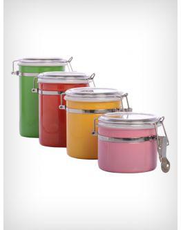 4pcs Stainless Steel Colored Jar Set Accessories Onlinekitchen