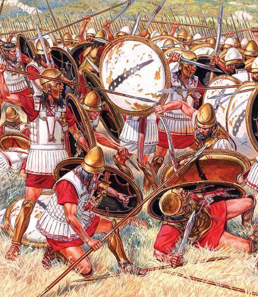 Hoplite battle 4-5th c. BC - Igor Dzis | ancient Greek ...
