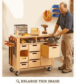 Mobile Shop Cabinet, Work Station Woodworking Plan, Shop Project Plan | WOOD Store