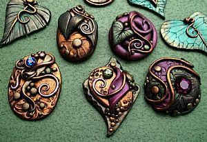 Detail Image for art Polymer Clay Cabochons Fall assortment