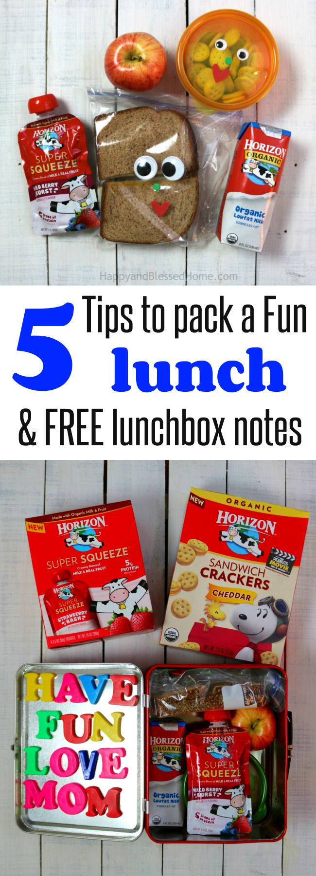 Such great and simple ideas for packing a kid's lunch - plus 15 FREE printable different lunchbox note cards - how clever! Family fun in a lunchbox.