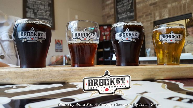 Feature Brewery: Brock St Brewing   Your hometown brewery!   Brock St Brewing's Glassware provided by and branded by Zenan Glass