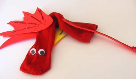 Sock puppet - the teacher using a puppet to tell a story.  Children can also use the puppet to create their own story or play along while you read one.