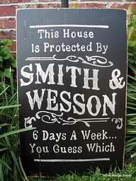 Protected by Smith and Wesson