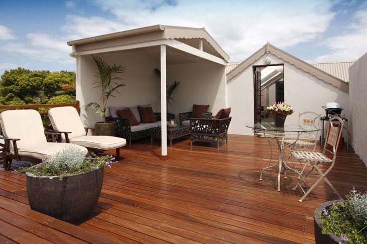 Privat deck for Studio Room guests.