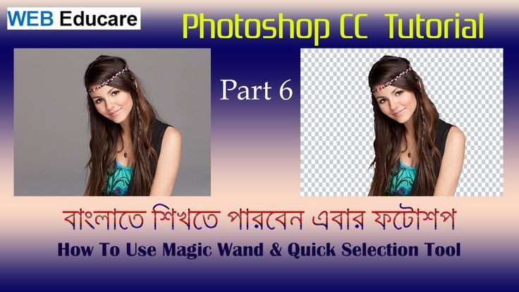 6 How to use the Magic Wand and Quick Selection Tool in