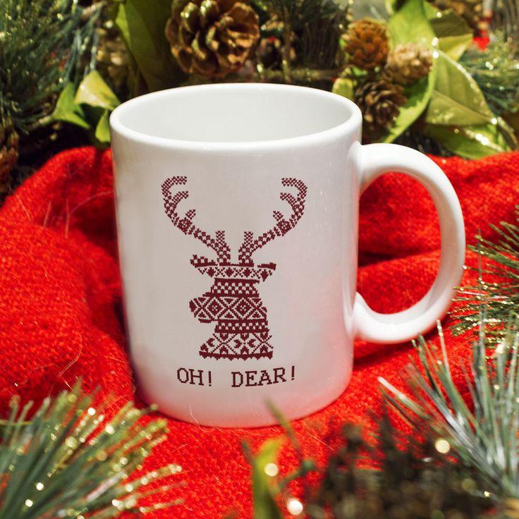 Kubek świąteczny Oh Dear!  Idealny prezent na święta. #święta2016 #luxplanet #kubek #mugs #holiday  #dear #funny