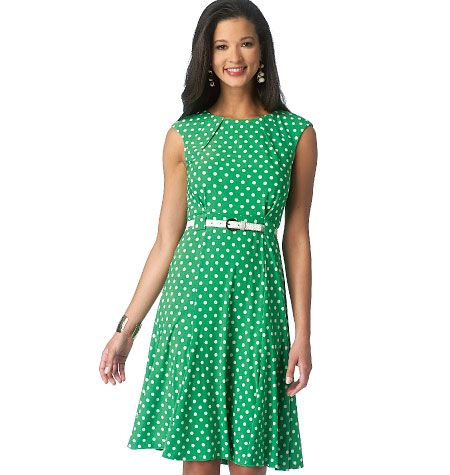 B6164, Misses' Dress
