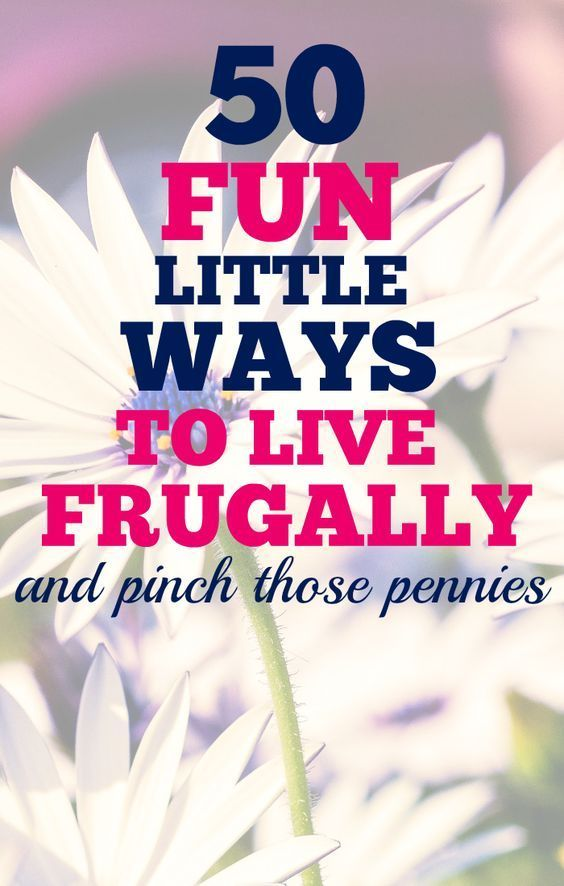 This is my most popular post on the blog - ever! 50 little ways to start working towards a frugal lifestyle. These penny-pinching tips will help you save money here and there, and it really adds up!