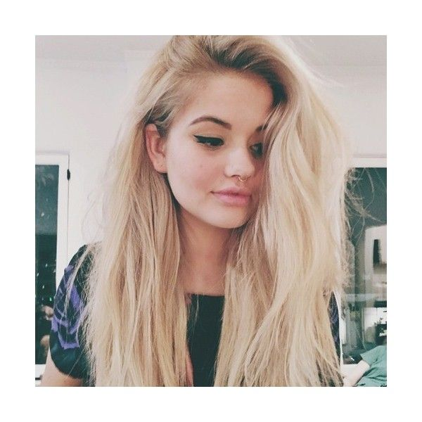 Was Debby Ryan's Blonde Hair Makeover Inspired By Her New Disney... ❤ liked on Polyvore featuring hair and hair style