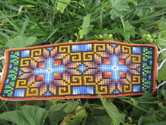 Ethnic Mexican Art  huichol beadwork by MAXICA on Etsy, $45.00